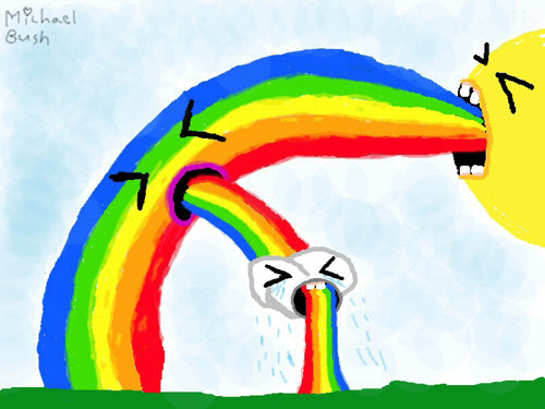 Rainbow Puke by Michael Bush